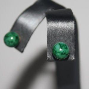 Green Natural Stone earrings Vintage